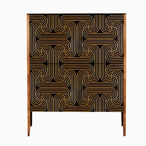 Goldenes Loop Kabinett mit 4 Türen von Coucou Manou