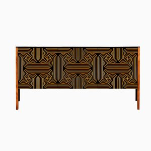 Gold Three Door Loop Sideboard by Coucou Manou
