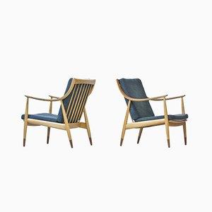 Dänische Armlehnstühle aus Teak & Buchenholz von Hvidt & Mølgaard für France & Daverkosen, 1950er, 2er Set