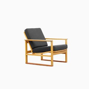 Teak and Oak Easy Chair Model 2256 by Børge Mogensen for Frederica