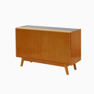 Cabinet with Opaxit Glass Table Top from Jitona NP, 1965