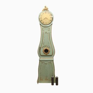 Swedish Antique Mora Clock with Floral Detailing