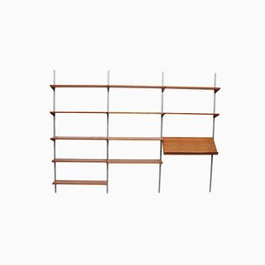 Teak and Aluminum Shelving Unit by Kai Kristiansen