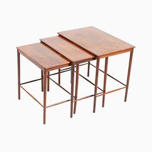 Tables Gigognes en Palissandre par Grete Jalk pour Peter Jeppesen, Danemark, Set de 3