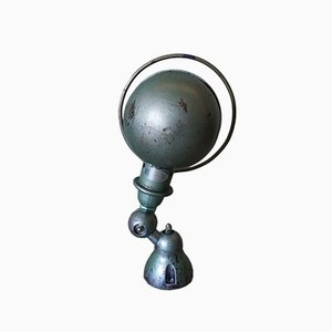 Green Industrial French Wall Light by Jean-Louis Domecq for Jieldé, 1950s