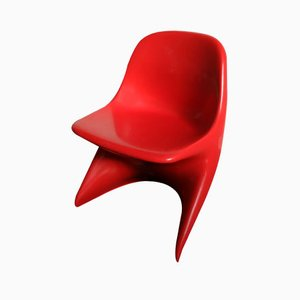 Vintage German Red Casalino Children's Chair by Alexander Begge for Casala, 1971