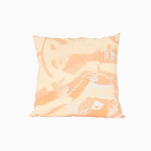Peach Two Hue Painted Square Pillow by Naomi Clark for Fort Makers