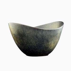 Stoneware Biomorphic Bowl by Gunnar Nylund for Rörstrand, 1950s