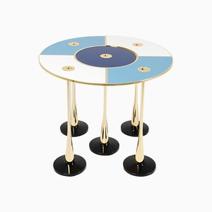 Blue Perspectiva Low Table by Fedele Papagni for Fragile Edizione