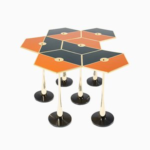 Orange Perspectiva Low Table by Fedele Papagni for Fragile Edizion