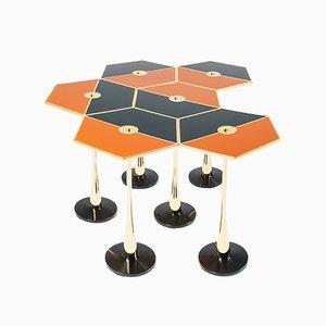 Perspectiva Tisch in Orange von Fedele Papagni für Fragile Edizion