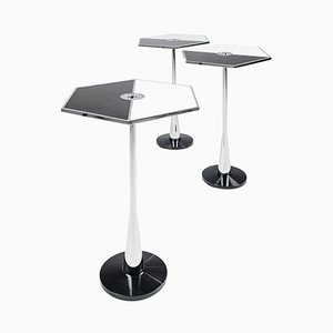 Black and White Perspectiva Low Table by Fedele Papagni for Fragile Edizione