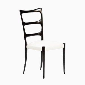 Mid-Century Italian Ebonized Wooden Chair