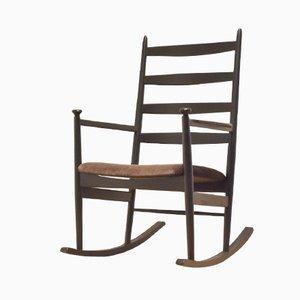 Rocking Chair Mid-Century en Bois par Poul M. Volther pour Gemla, Suède