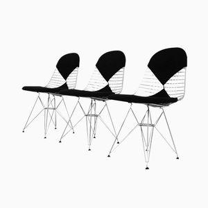DKR-2 Eiffelturm Stahldraht Stühle von Charles Eames für Vitra, 3er Set