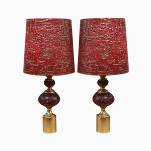 French Table Lamps, 1950s, Set of 2