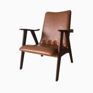 Niederländischer Lounge Armlehnstuhl von Louis van Teeffelen für Wébé, 1960er