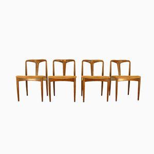 Danish Juliane Chairs by Johannes Andersen for Uldum Møbelfabrik, 1960s, Set of 4