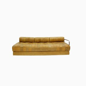 Vintage Caramel DS-80 Leather Daybed from De Sede