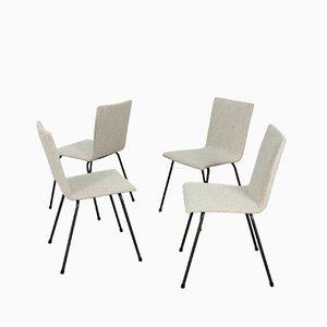 Mid-Century German Steel Chairs, 1960s, Set of 4