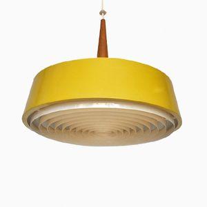 Gelbe Metall Hängelampe von Philips