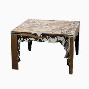 Quadratischer Schichtgestein Tisch von Rive Roshan