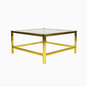Mid-Century Italian Brass and Glass Coffee Table, 1970s