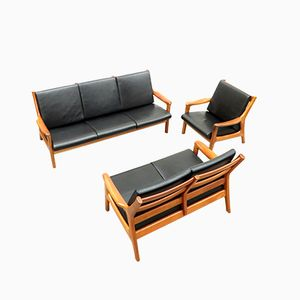Danish Sofas and Easy Chair by Gustav Thams for Vejen Mobler, 1960s, Set of 3