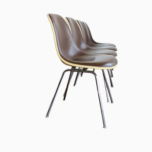 Vintage Fiberglass DSX Side Chairs by Charles & Ray Eames for Herman Miller / Vitra, Set of 4