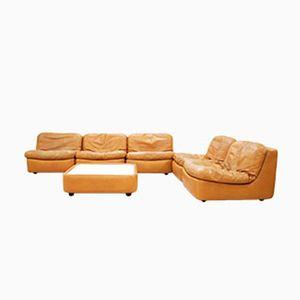 Vintage Modular Cognac Leather Living Room Set from Dreipunkt International