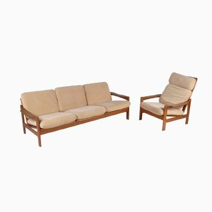 Danish Teak Living Room Set, 1970s