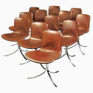 Vintage PK9 Esszimmerstühle von Poul Kjaerholm für E. Kold Christensen, 12er Set