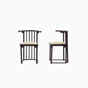 Chairs by Josef Hoffmann for Jakob & Josef Kohn, 1914, Set of 2