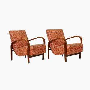 Vintage Armchairs by Kropáček and Kuželka, Set of 2