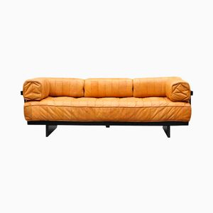 Vintage DS 80 Brown Leather Daybed from De Sede