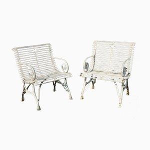 Französische Gartenstühle aus Schmiedeeisen, 1990er, 2er Set