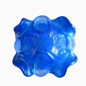 Venitian Crystal Glass Bowl by Fratelli Toso for Murano, 1970s