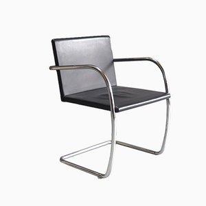 Brno Chair en Chrome et Cuir par Mies van der Rohe pour Knoll, 1930s