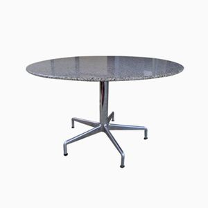 Vintage French Granite Round Dining Table