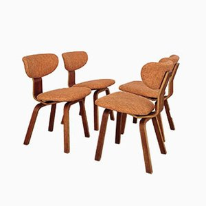 Niederländische Esszimmerstühle von Cees Braakman für Pastoe, 1950er, 4er Set