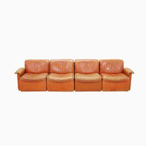 DS-12 Modular Cognac Leather Sofa from De Sede, 1980