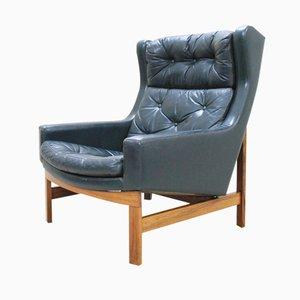 Grüner Palisander Geschwungener Sessel, 1975