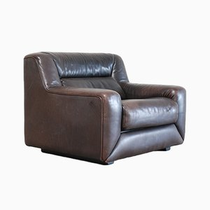 DS-43 Brown Leather Club Chair from De Sede, 1985