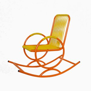 Italian Orange Children's Rocking Chair