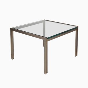 Dutch Square Chrome & Glass Coffee Table from Metaform, 1960s