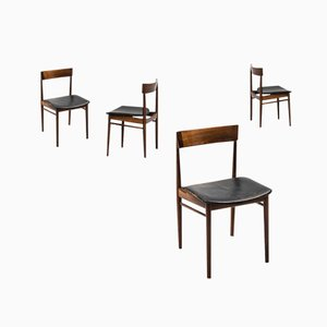 Mid-Century Model 39 Dining Chairs by Henry Rosengren Hansen for Brande Møbelfabrik, Set of 4