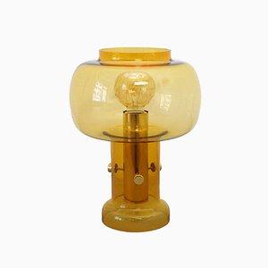 Lampada da tavolo vintage in vetro traslucido