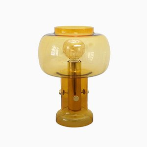 Vintage Translucent Glass Table Lamp