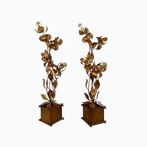 Lampadaire Vintage en Forme de Plante