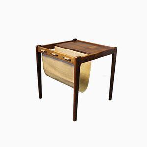 Tavolino portagiornali in palissandro, Danimarca, anni '60